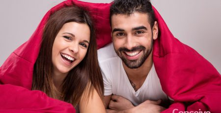 Couple under a blanket
