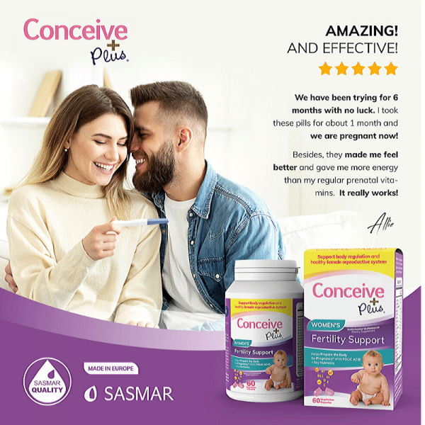 User Reviews Conceive Plus womens fertility folic acid tablets supplement